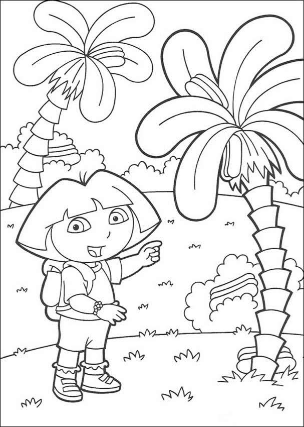 607x850 Dora Coloring Pages, Drawing For Kids, Videos For Kids, Reading