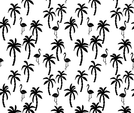 463x392 Palm Tree Fabric Palm Tree Black And White Palms