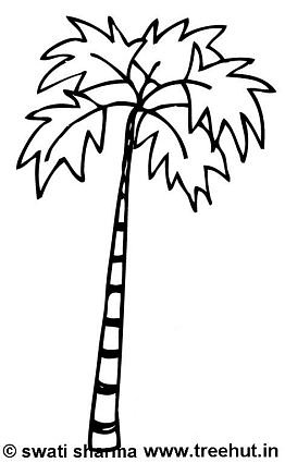 262x425 Trees Coloring Pages