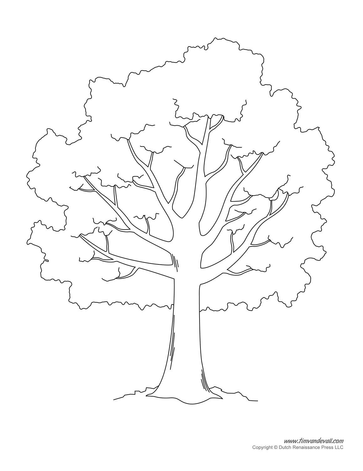 1159x1500 Tree Template To Print