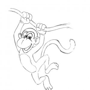 300x300dult How To Draw Monkey On Tree How To Make Monkey On