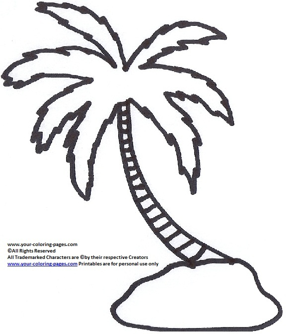 580x672 Coloring Pages Of Palm Trees