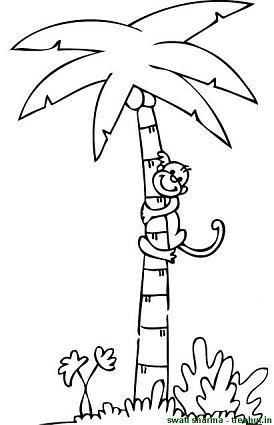 274x425 Trees Coloring Page