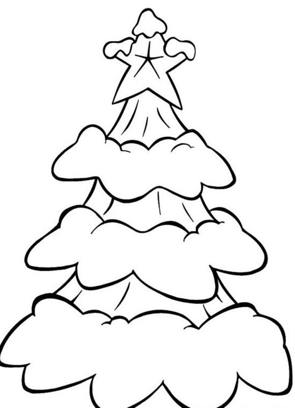 580x803 Christmas Tree Coloring Pages Coloring Pages Christmas Tree Easy