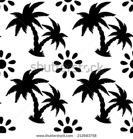 450x470 Drawn Palm Tree Abstract