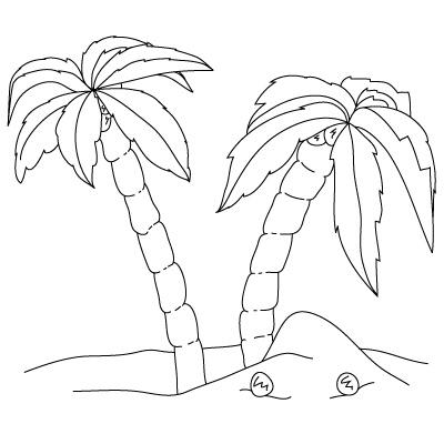400x400 Palm Tree Drawing