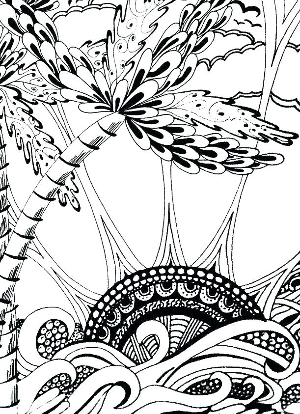 611x843 Palm Trees Coloring Pages Synthesis.site