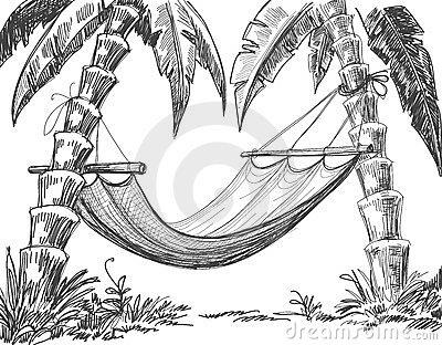 400x312 Hammock Pencil Drawing Sketching Pencil Drawing