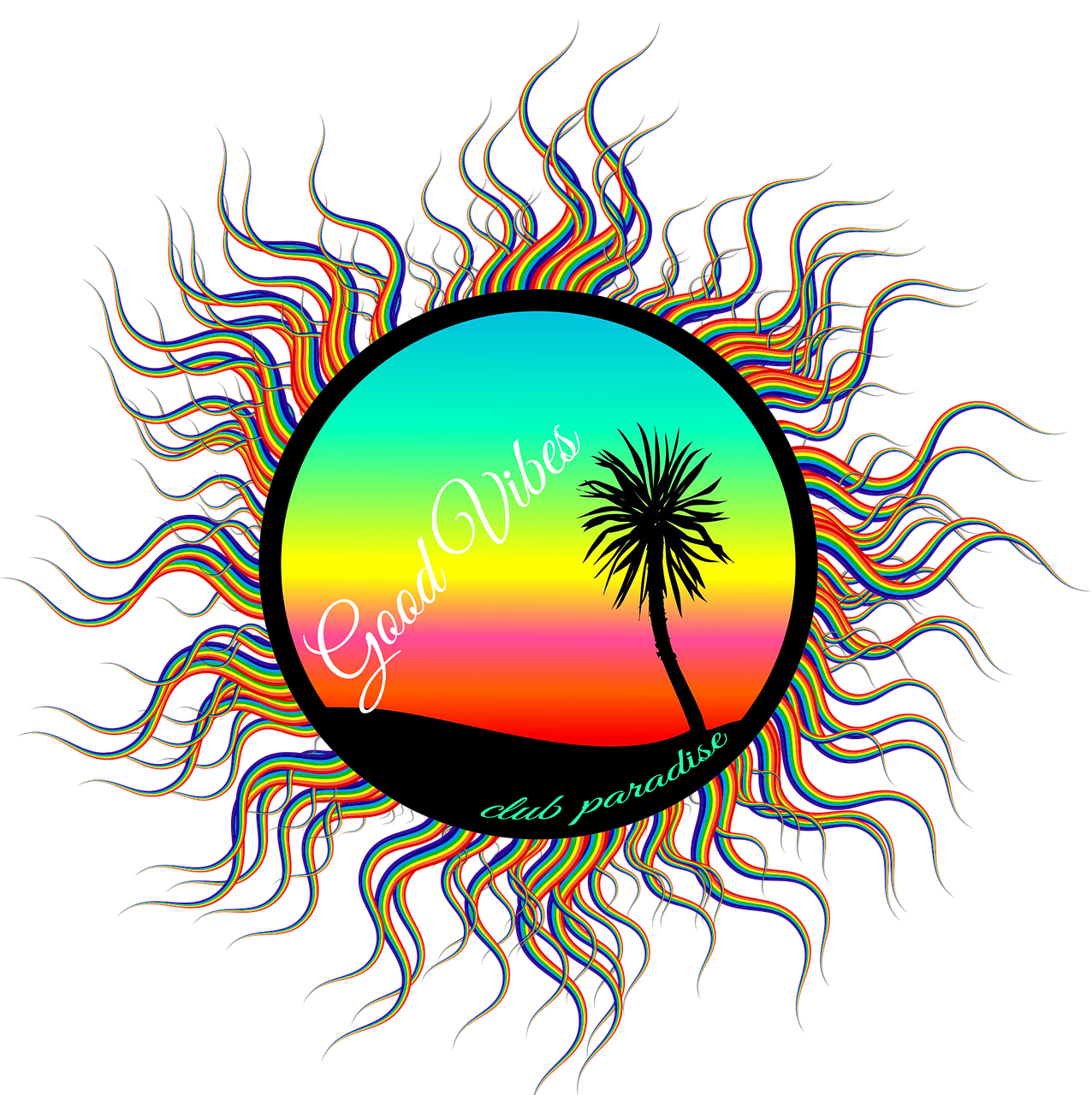 1276x1280 Palm Tree Beach Art Sunset Palm Transparent Image Palm Tree