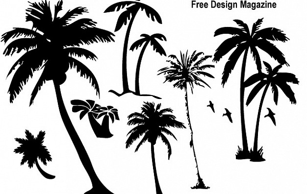 626x396 Palm Trees Silhouettes Vector Free Download