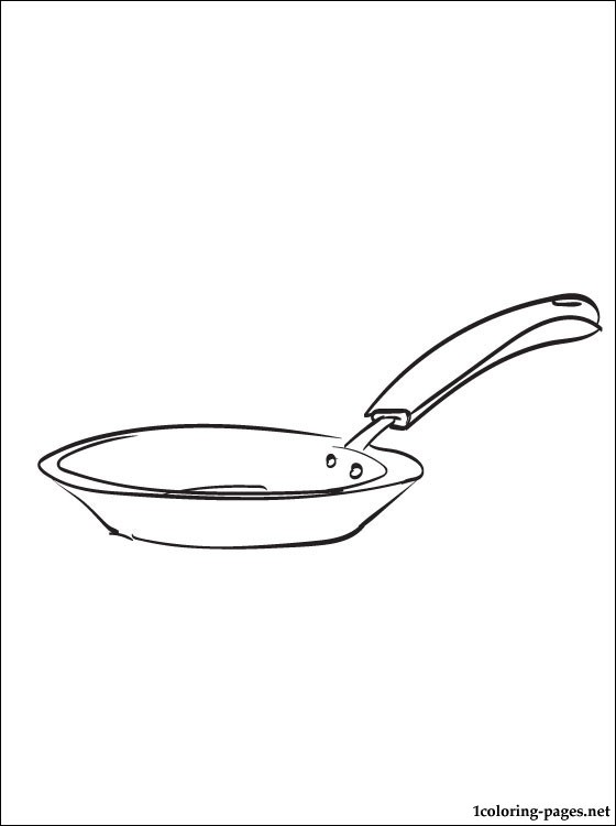 560x750 Frying Pan Coloring Page Coloring Pages