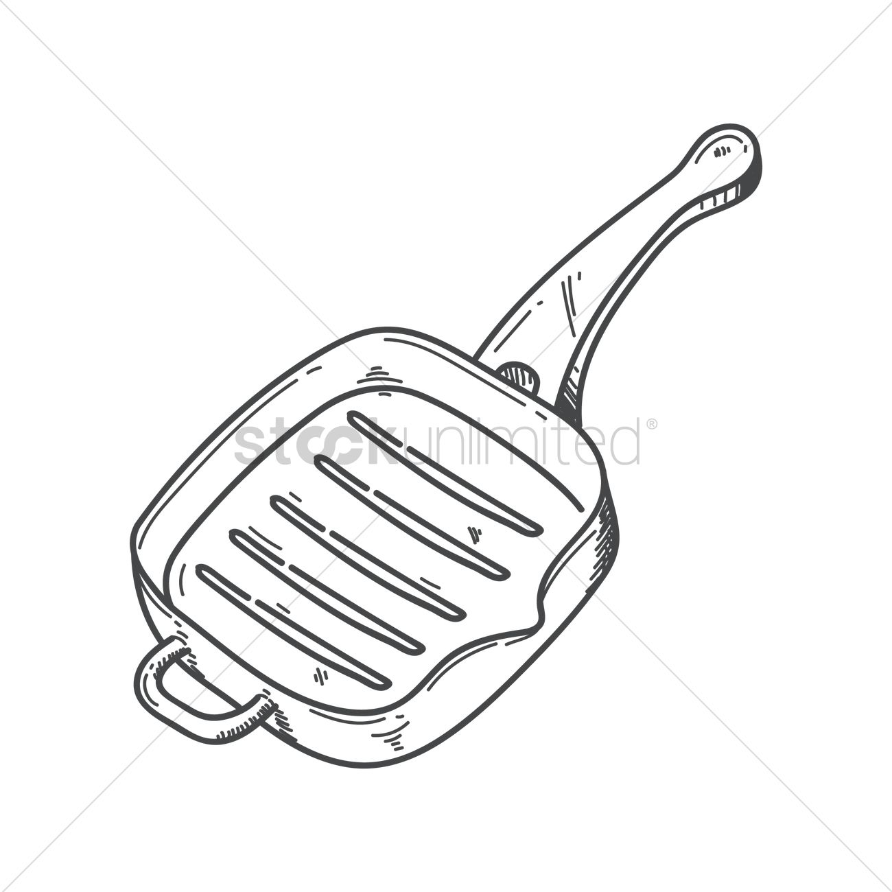 1300x1300 Grill Pan Vector Image