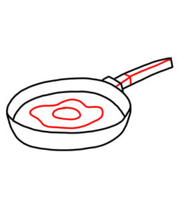 256x300 How To Doodle Frying Pan