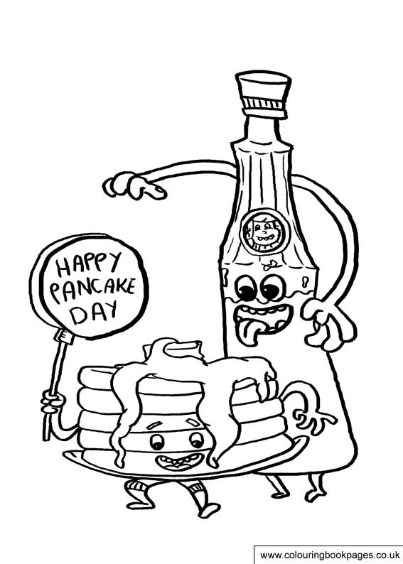 567x794 Free Pancake Day Colouring Pages Shrove Tuesday Printable