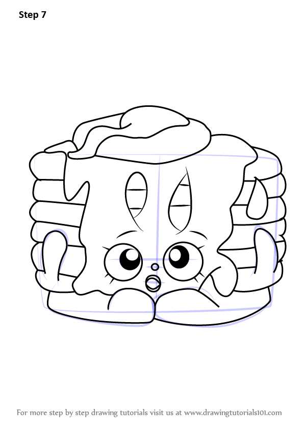 596x843 Learn How To Draw Pamela Pancake From Shopkins (Shopkins) Step By