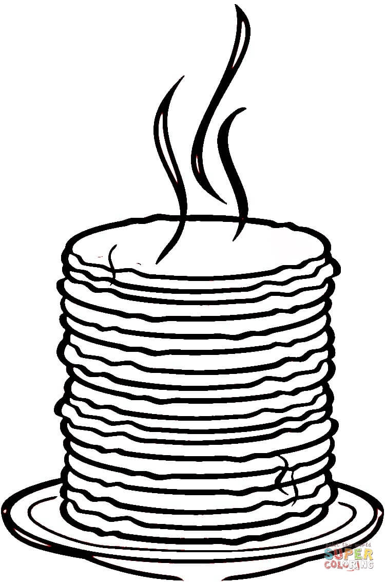 750x1133 Loads Of Pancakes Coloring Page Free Printable Coloring Pages