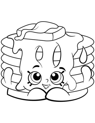 371x480 Pamela Pancake Shopkin Coloring Page Free Printable Coloring Pages