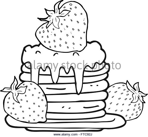 585x540 Pancake Stack Stock Vector Images