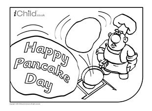 310x226 Pancake Day (Shrove Tuesday) Colouring In Picture! Hundreds More