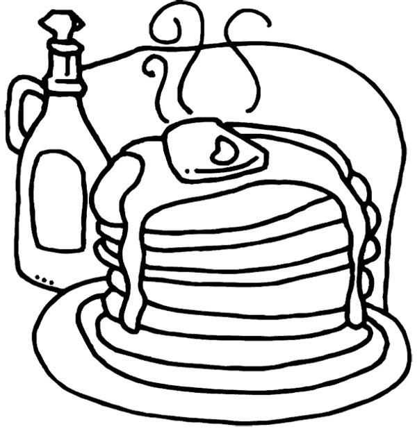 600x621 Pancakes Coloring Page Cookie Pancakes, Birthdays