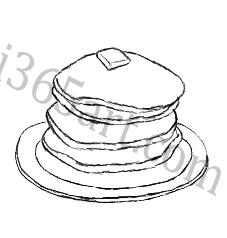 759x795 Pancakes Coloring Pages