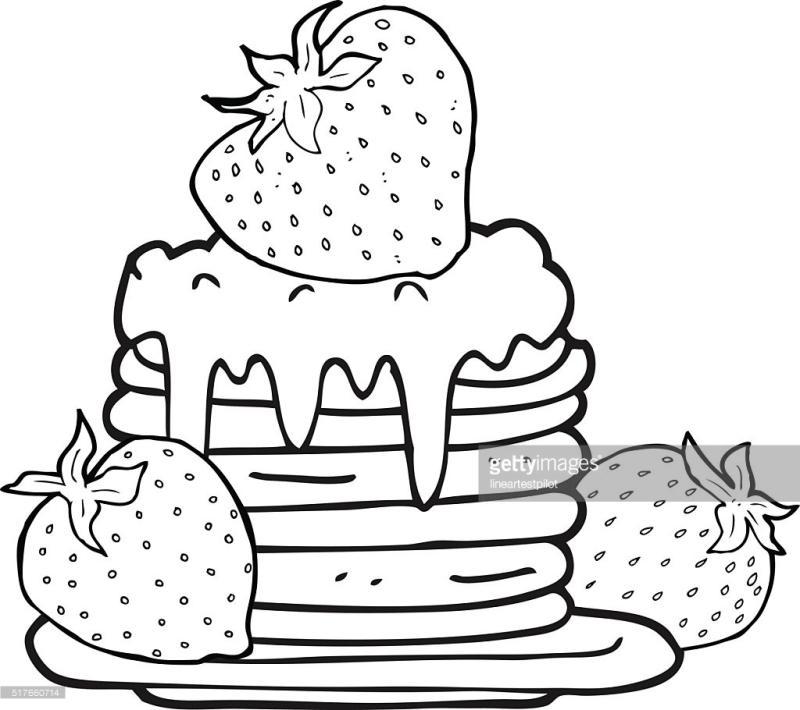 800x710 Pancake Clipart Black And White