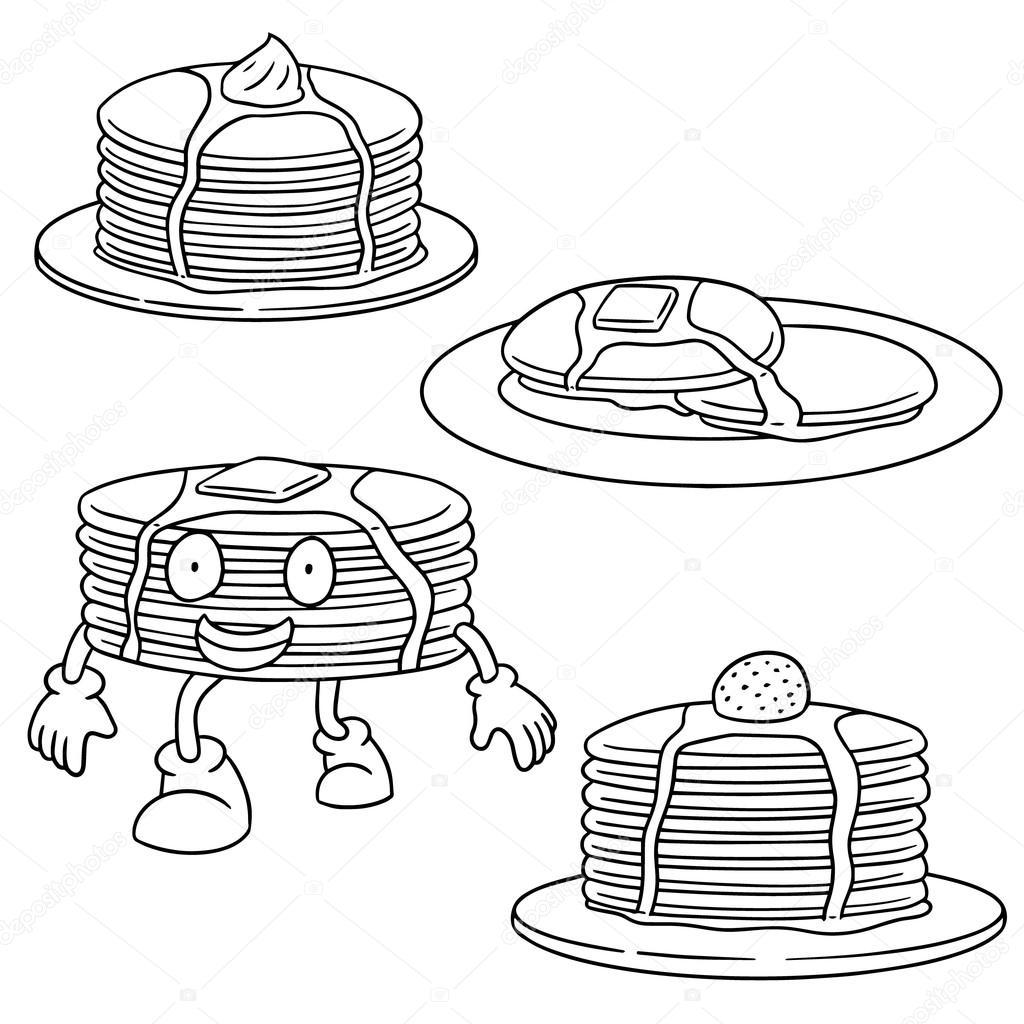 1024x1024 Vector Set Of Pancake Stock Vector Ourlifelooklikeballoon