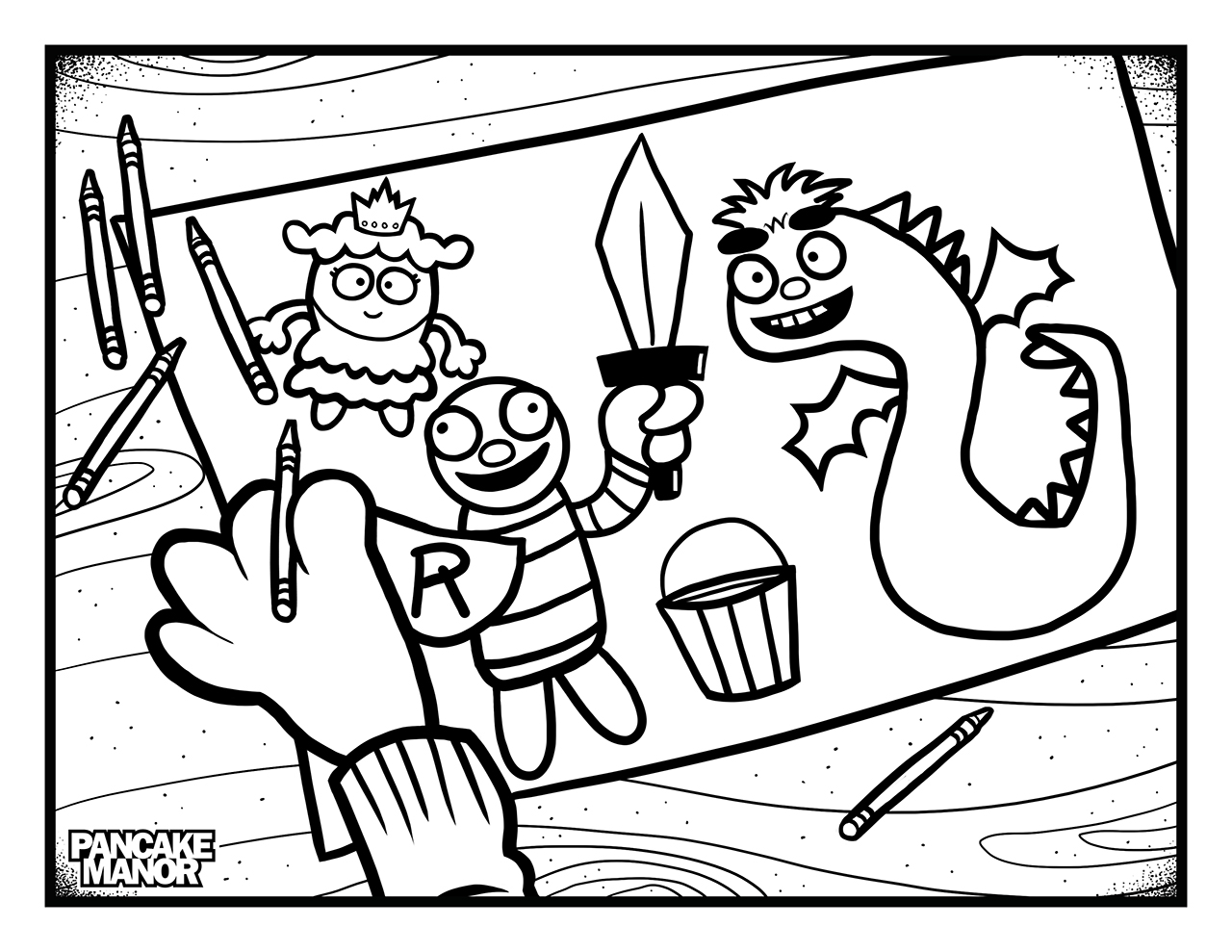 1280x989 Colour This Knights And Dragons Pancake Manor Kids Songs