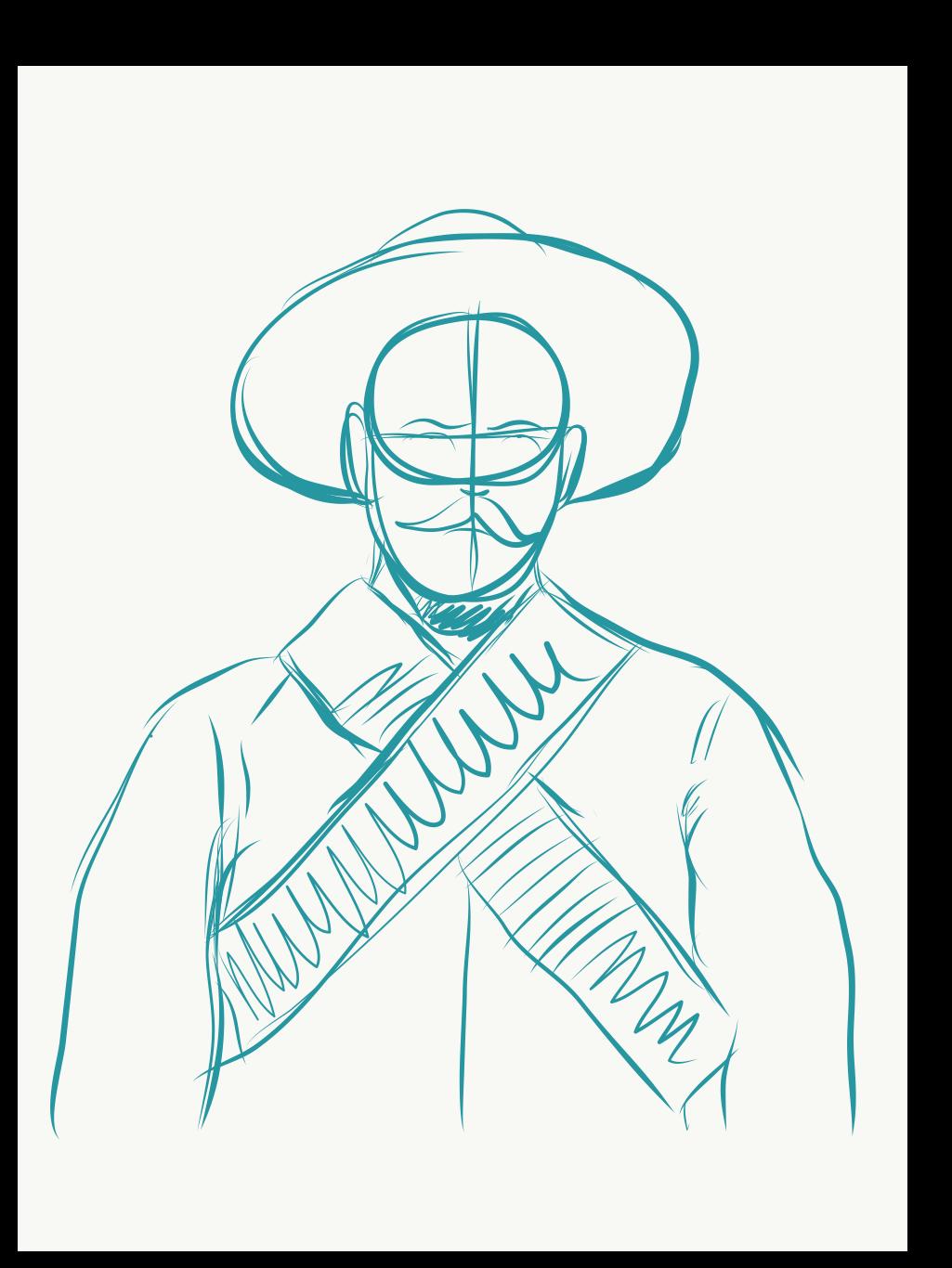 1025x1366 Pancho Villa By Antonio Romero On Behance