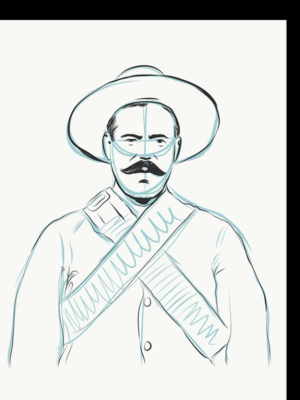 600x800 Pancho Villa By Antonio Romero On Pantone Canvas Gallery