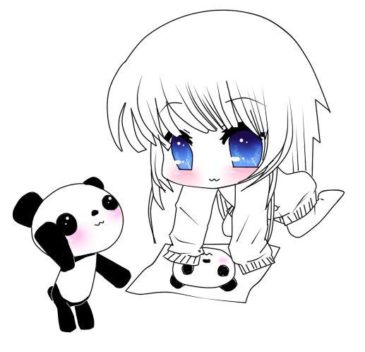 517x498 Chibi Animal Girls Chibi Panda Girls Art