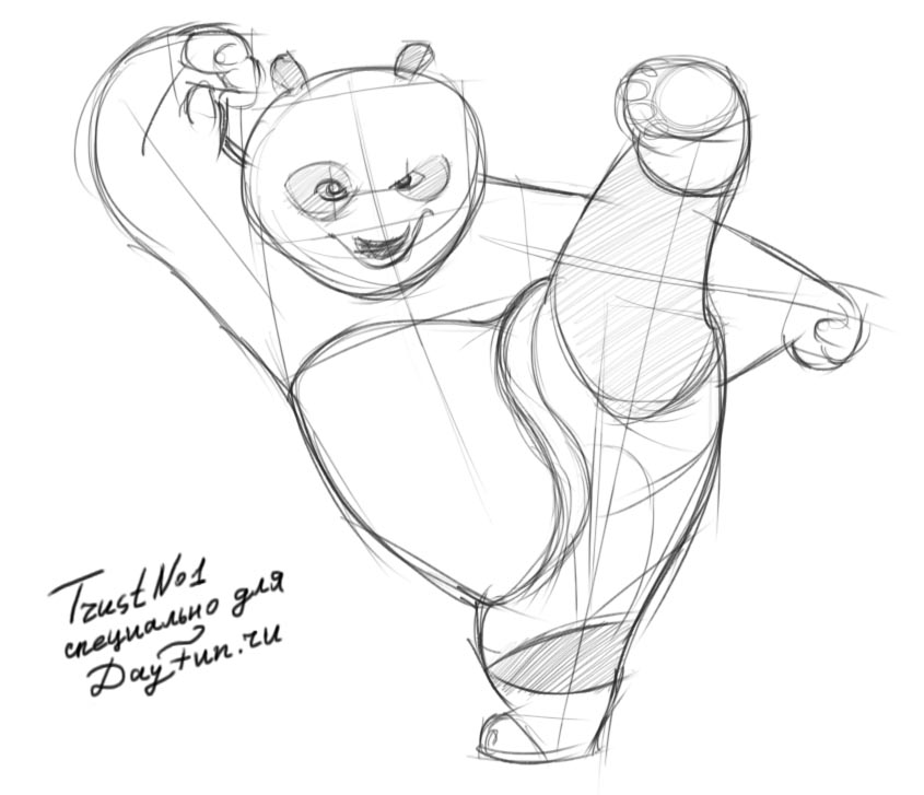 845x727 How To Draw Kung Fu Panda Step By Step Easy