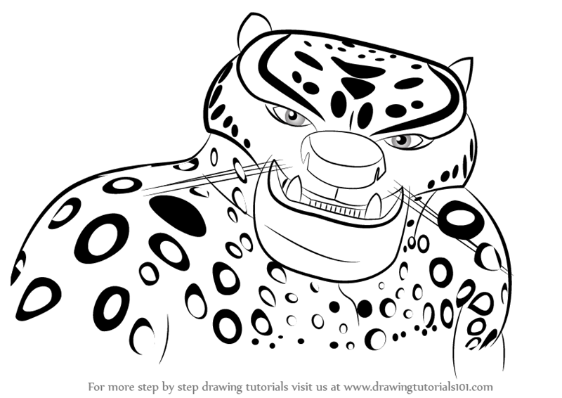 800x566 Learn How To Draw Tai Lung From Kung Fu Panda 3 (Kung Fu Panda 3