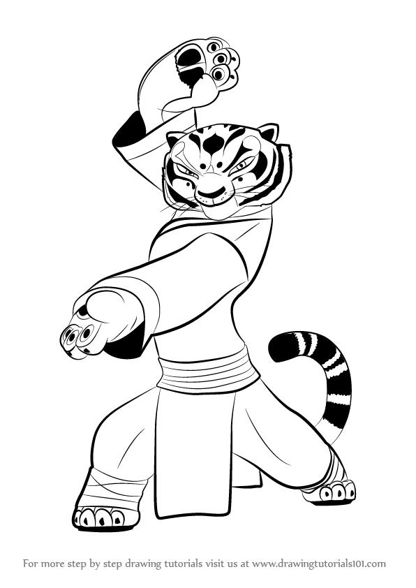 596x842 Learn How To Draw Tigress From Kung Fu Panda 3 (Kung Fu Panda 3