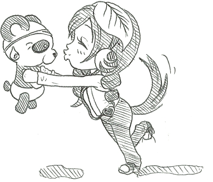 697x596 Panda Kisses Chibi By Bubblegumflavorlover
