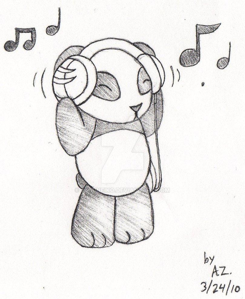 809x988 Panda Mp3 Jammin Copy By Amaineiko