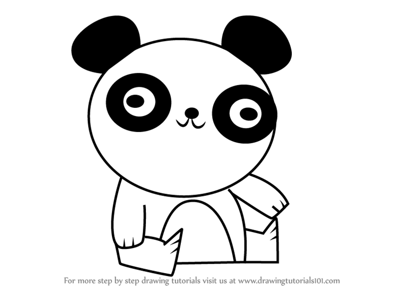 800x567 Learn How To Draw Panda Bear From Total Drama (Total Drama) Step