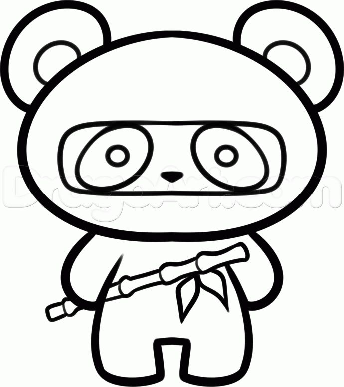 Panda Bears Drawing