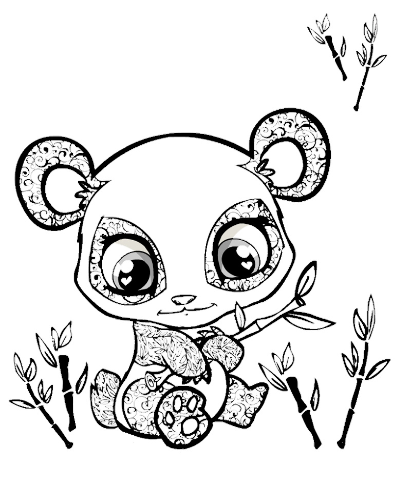 800x943 Coloring Pages Draw A Panda Bear Printable