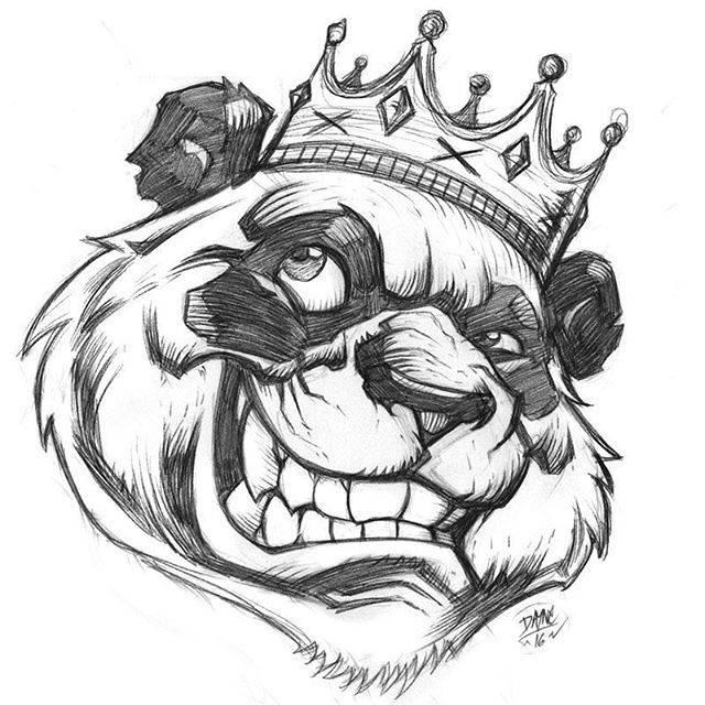 640x640 Panda Bear Art Drawing On Instagram