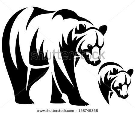 450x380 American Black Bear Clipart