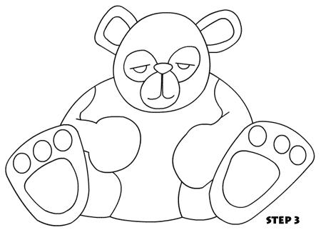 450x329 Cute Cartoon Panda Drawing