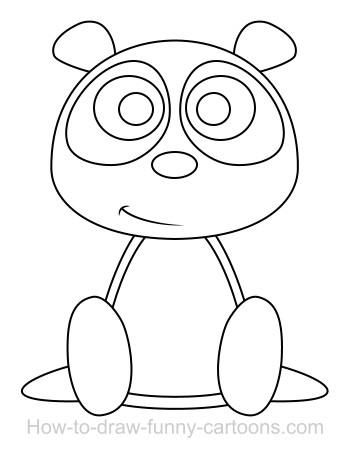 350x454 Drawing A Panda Cartoon