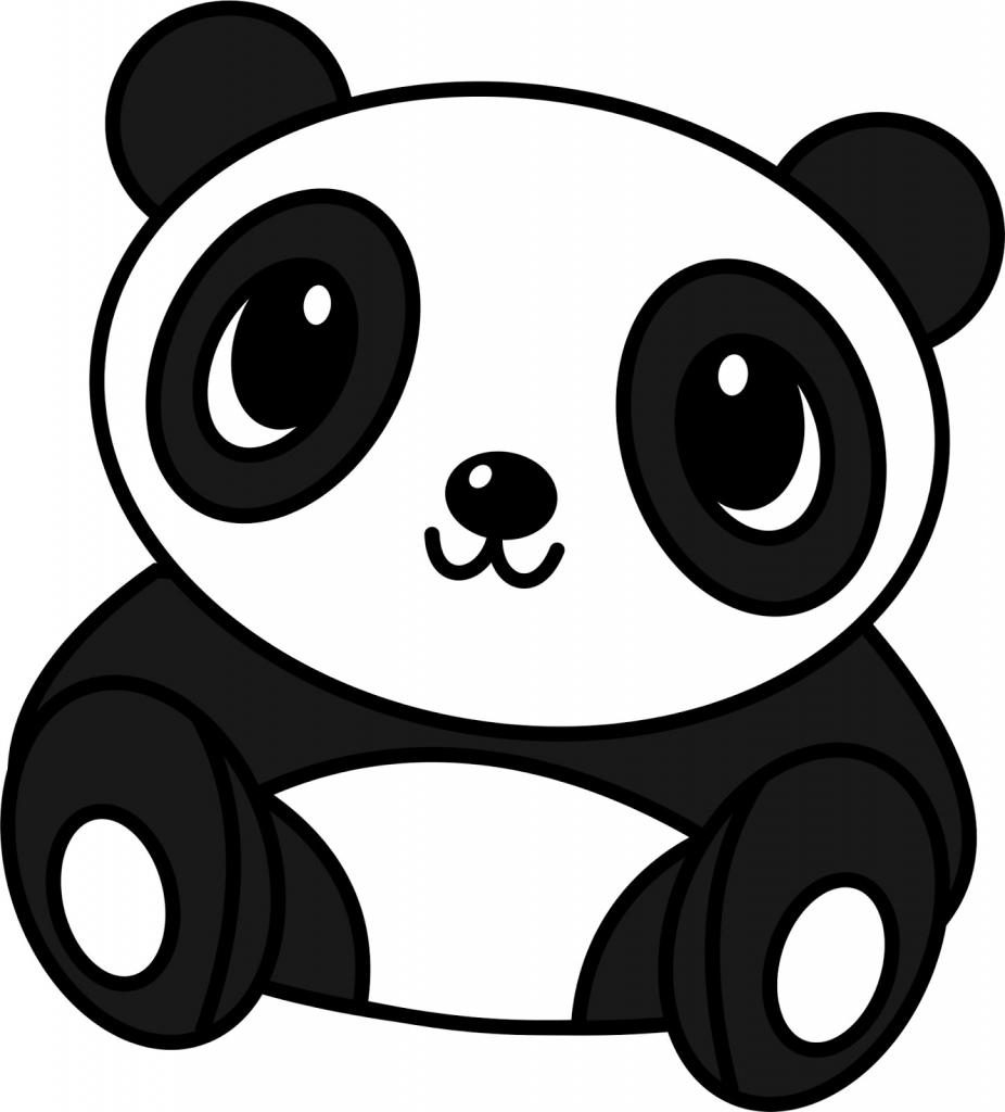 926x1024 Cartoon Panda Drawing