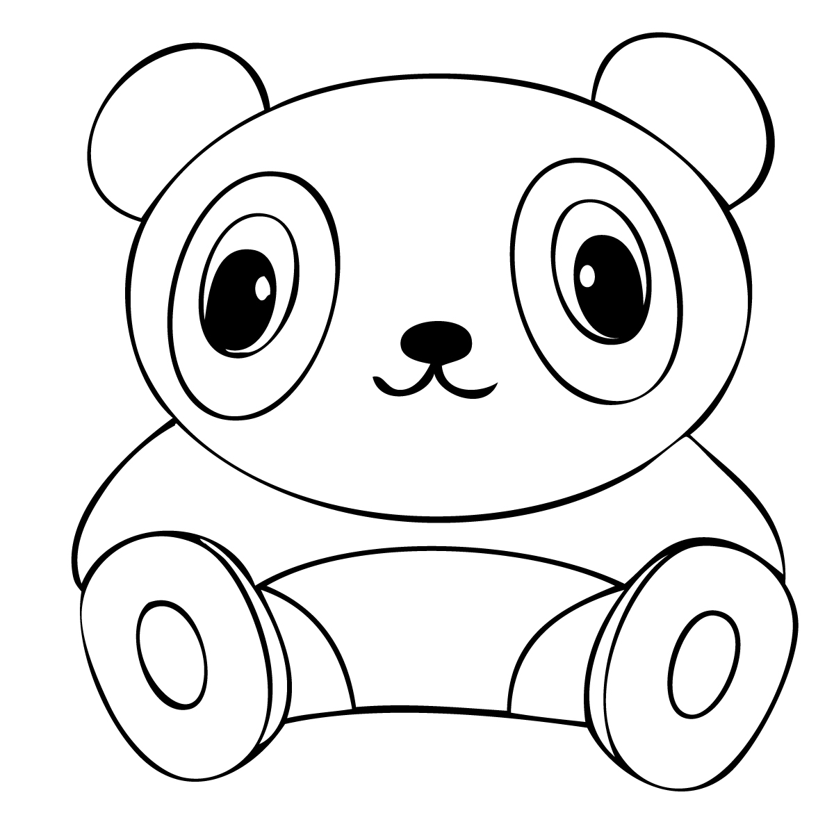 1200x1170 Cute Baby Panda Coloring Pages