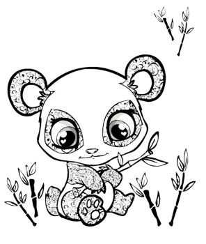 296x350 Cute Baby Panda Coloring Pages Kids