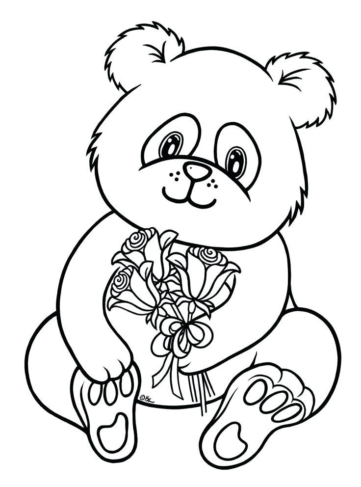 736x992 Cute Panda Coloring Page Free Printable