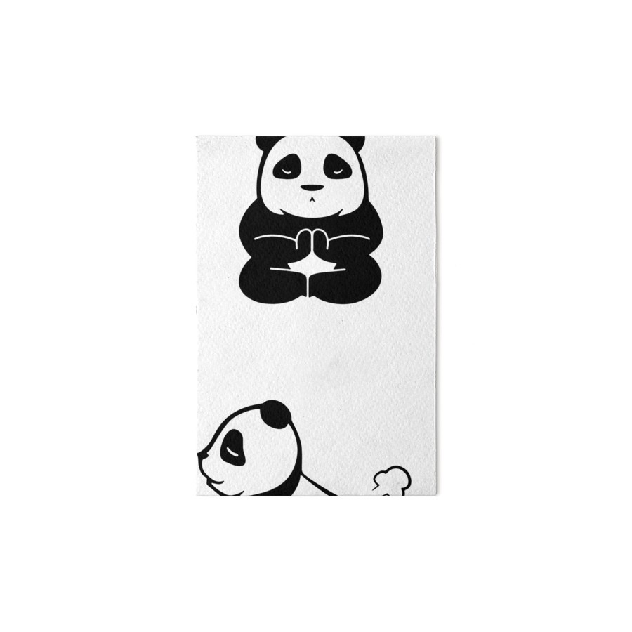 900x900 Inhale Yoga Panda Exhale Lazy Panda Cute Art Boards By Lan Tran