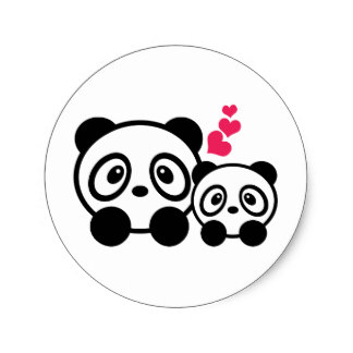 324x324 Custom Panda Cute Stickers Zazzle.ca