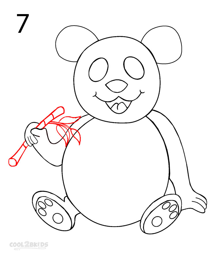 750x890 How to Draw a Panda (Step by Step Pictures) Cool2bKids